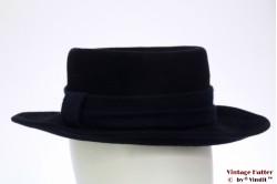 Ladies hat dark blue fur felt 55