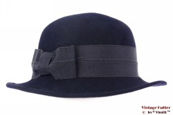 Ladies hat LadyLike dark blue felt 55 (S)