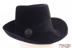 Ladies hat dark blue velour 56