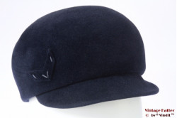 Ladies hat VEB balloon-type dark blue velour 56