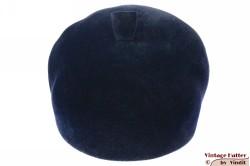 Ladies cap-type hat dark blue velour 56