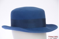 Ladies hat blue felt 56,5