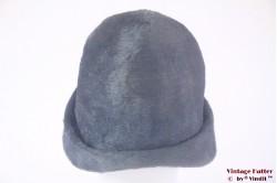 Vintage cloche Duchess greyish blue fur felt 52-53 (XXS)