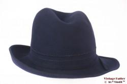 Ladies fedora dark blue felt 55,5 (S)