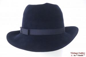 Ladies hat 'Haus Der Hute' dark blue velvet with swirl 56