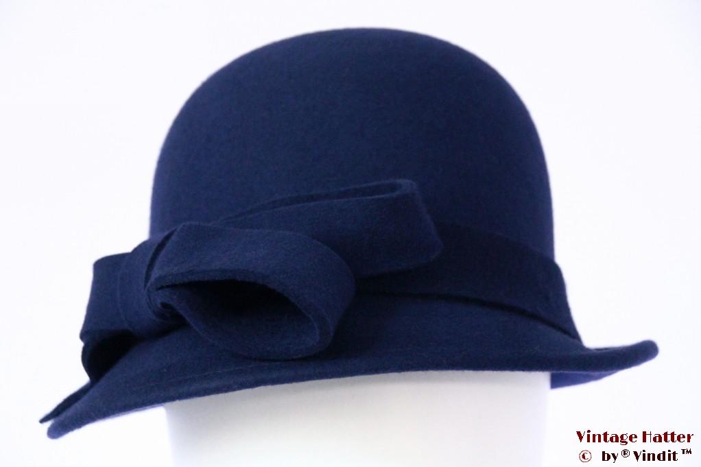 Ladies hat Hawkins navy blue felt 54 - 58 [new]