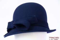 Ladies hat Hawkins navy blue felt 54 - 58 [new]