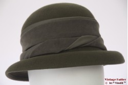 Ladies hat army green felt 53-54 (XXS)