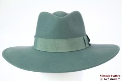 Wide ladies fedora Brixton Joanna turkois green felt 56,5 [New Sample]