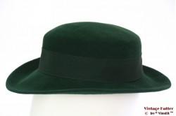 Ladies hat green velvet 54 (XS)