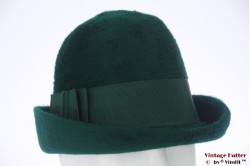 Ladies cloche hat green fur felt 55 (S)