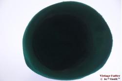 Ladies cloche hat green fur felt 55 (S)