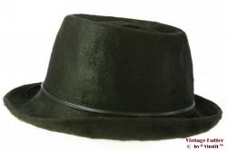 Ladies hat dark green fur felt 57