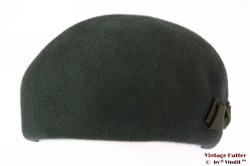 Ladies cocktail hat dark green fur felt 57