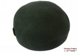 Ladies cocktail hat dark green fur felt 57