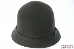 Ladies Cloche hat greenish grey felt 57