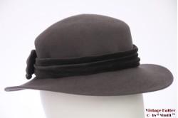Ladies hat grey felt 54 (XS)