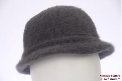 Ladies hat soft grey fur felt 56