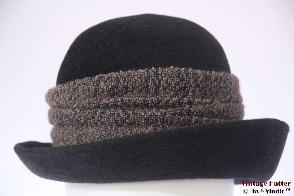 Ladies hat Canda dark grey fur felt 57