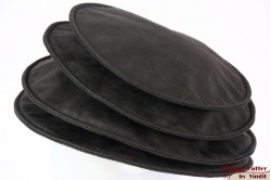 Ladies Pagode-hat The Madhatter blackish grey faux leather 54-57 [New]