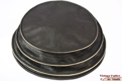 Ladies Pagode-hat The Madhatter blackish grey - beige faux leather 54-57 [New]