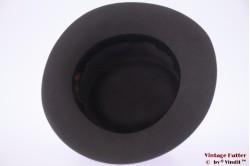 Ladies hat Mayser Modell dark grey felt with feathers 57