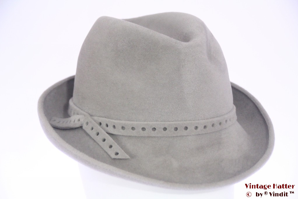 Ladies fedora Mayser grey velour 56