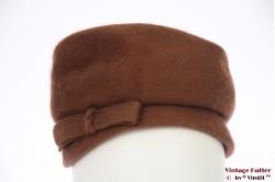 Ladies hat V.E.B. brown fur felt 55 (S)