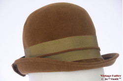 Ladies hat Gazelle greenish brown velvet 55 (S)