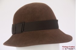 Ladies hat brown velour 56