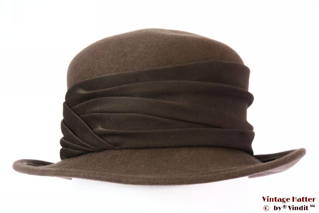 Ladies hat Canda brown felt 56