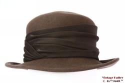 Ladies hat Canda brown felt 56