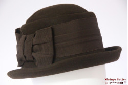 Ladies hat LadyLike brown felt with high band 57