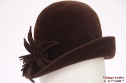 Ladies hat ASS Qualität brown velour 56