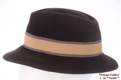 Ladies hat brown velour 56