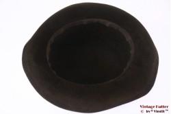 Ladies hat dark brown velour 56