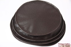 Ladies Pagode-hat The Madhatter aubergine brown faux oistrich leather 54-57 [New]