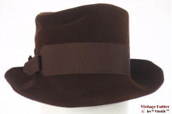 Ladies hat Touriste brown soft felt 57