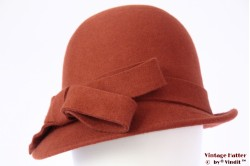 Ladies hat Hawkins orange brown felt 54 - 58 [new]