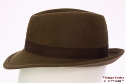 Ladies hunting fedora soft brown with feathers 54,5
