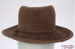 Ladies hat beige brown 55