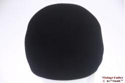 Cap-type ladies hat black felt 53 (XXS)