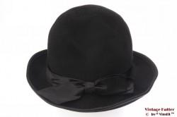 Ladies hat black felt 54 (XS)