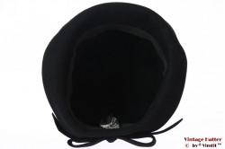 Ladies hat VEB black felt very small 53/54 (XXS)