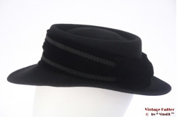 Ladies hat LadyLike Florence black felt 55 (S)