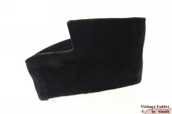 Ladies hat handmade Madhatter black and brown suede 54,5 (XS/S) [New]