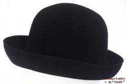 Ladies hat Favorit black velvet 55 (S)