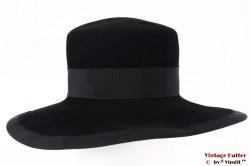 Wide ladies hat Dorothea Schlieben black velvet 55-56