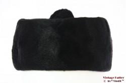 Ladies cocktail hat Balladem black fur felt with pompon 55 (S)