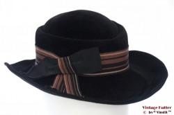 Ladies hat Mayser-Milz black velvet 56